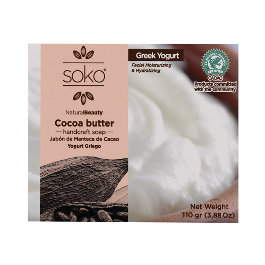 Cocoa butter Handcrafted Greek Yogurt Facial Soap