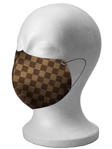 LOUIS VUITOON Damier Custom Handmade Face Mask