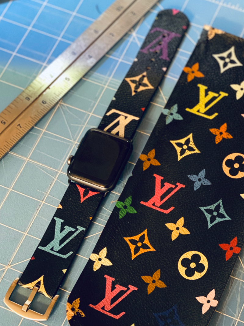 LV Multicolored Custom Made Apple Watch Band PRE-ORDER NOW!
