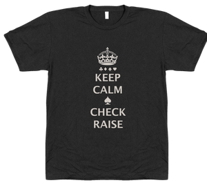 Keep Calm Check Raise T-Shirt