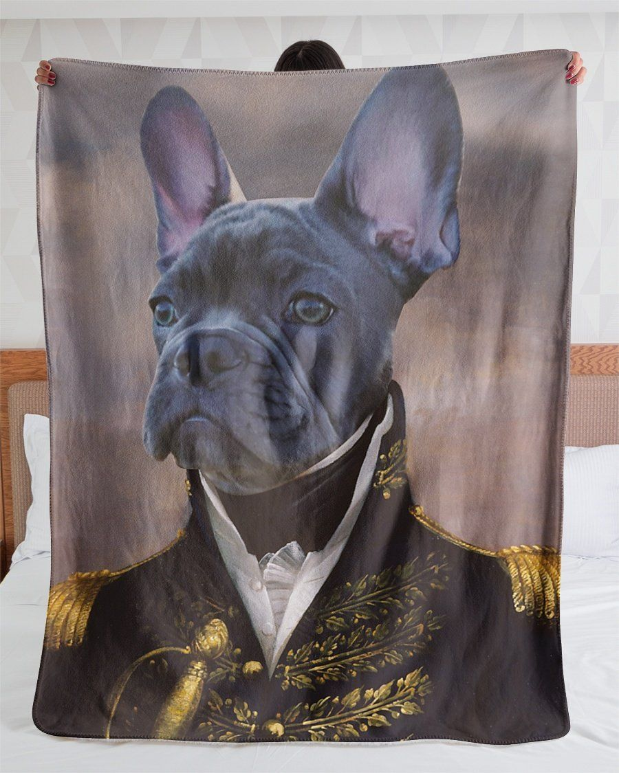 Funny Blanket - Funny Pets A Noble Dog Customized Photo Fleece Blanket