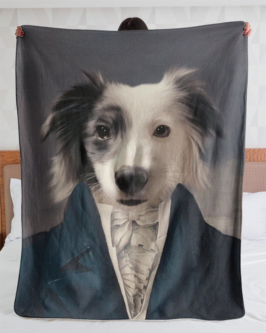 Funny Blanket - Funny Dogs A Black Eye Customized Photo Fleece Blanket
