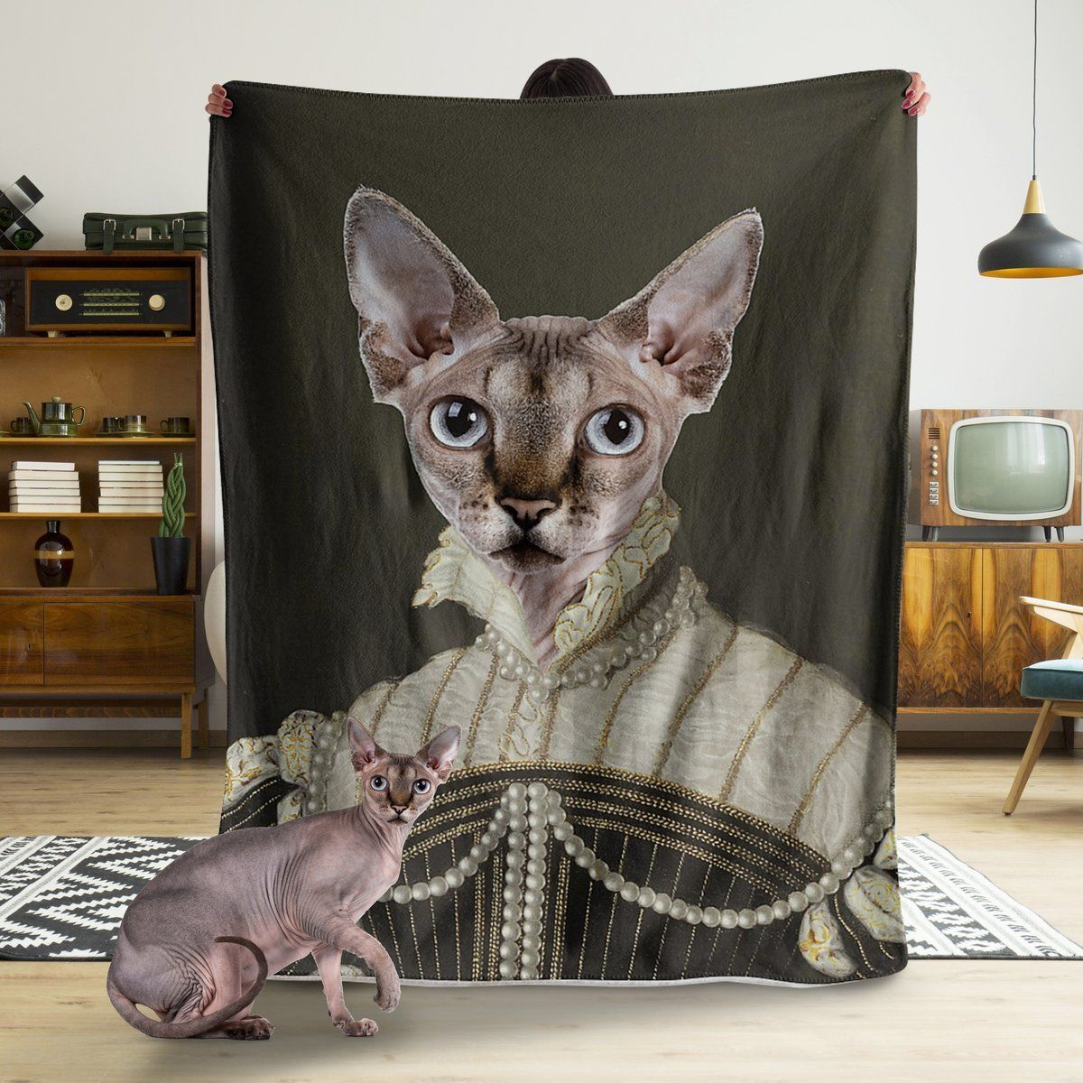Funny Blanket - A Funny Cat Customized Photo Fleece Blanket