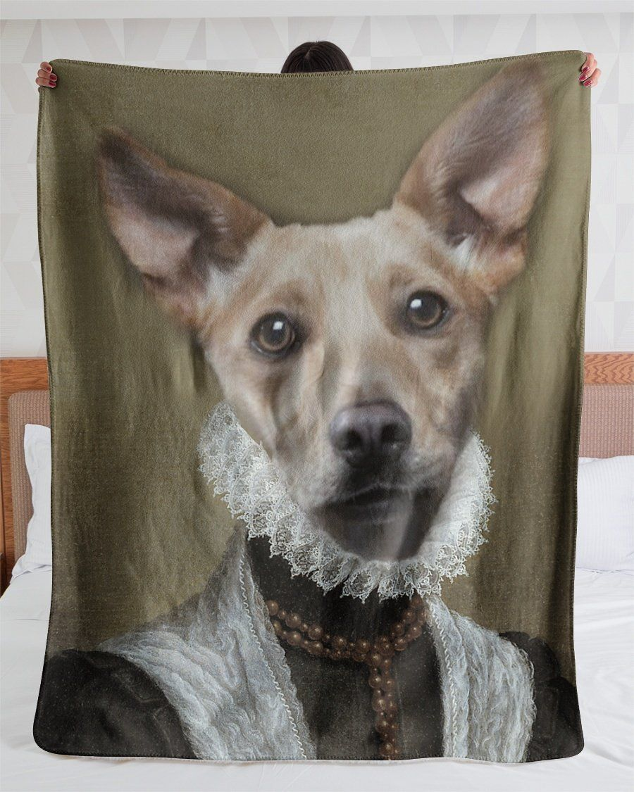 Funny Blanket - Funny Dogs A Sorrowful Face Customized Photo Fleece Blanket