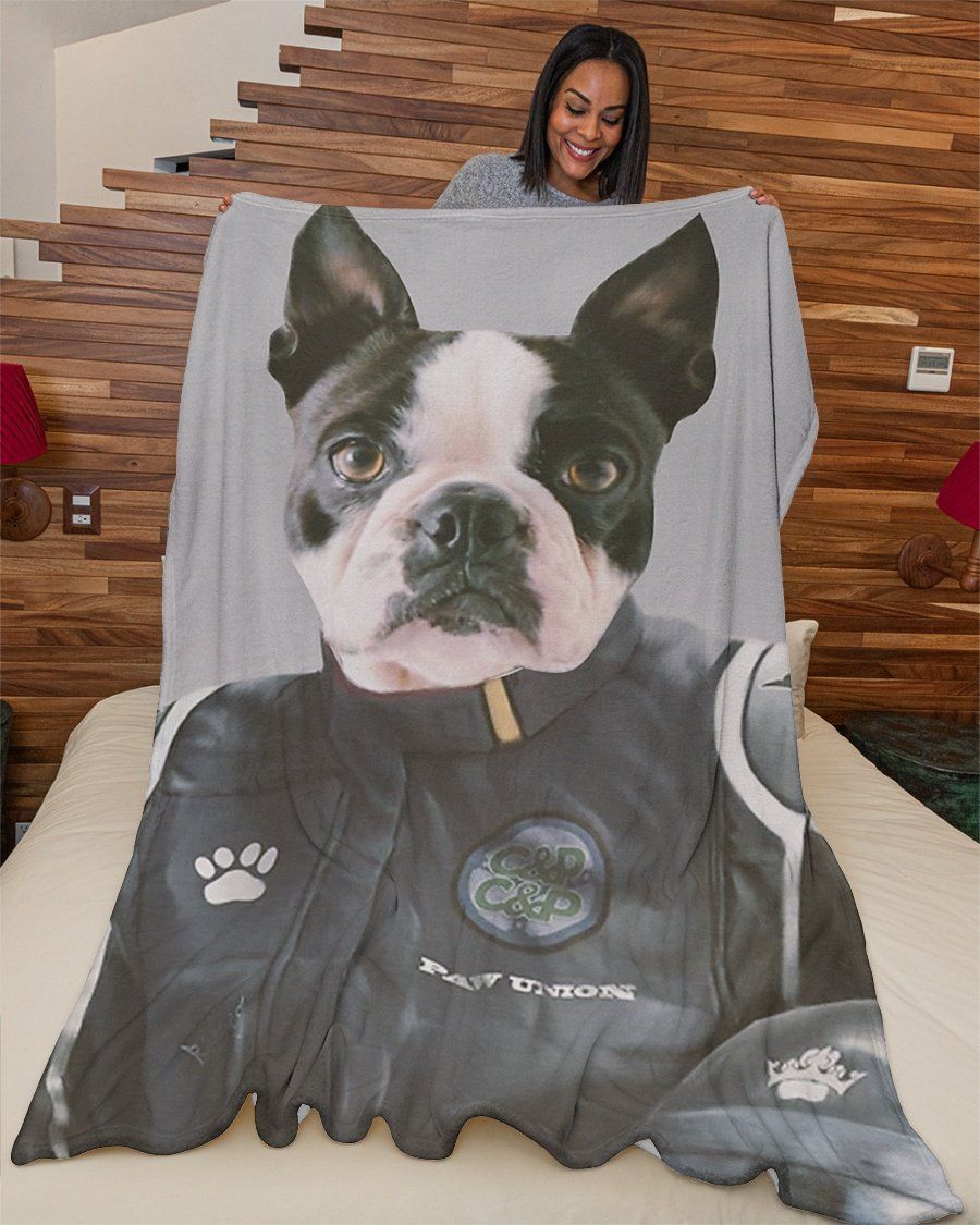 Funny Blanket - Funny Dogs Paw Union Customized Photo Fleece Blanket