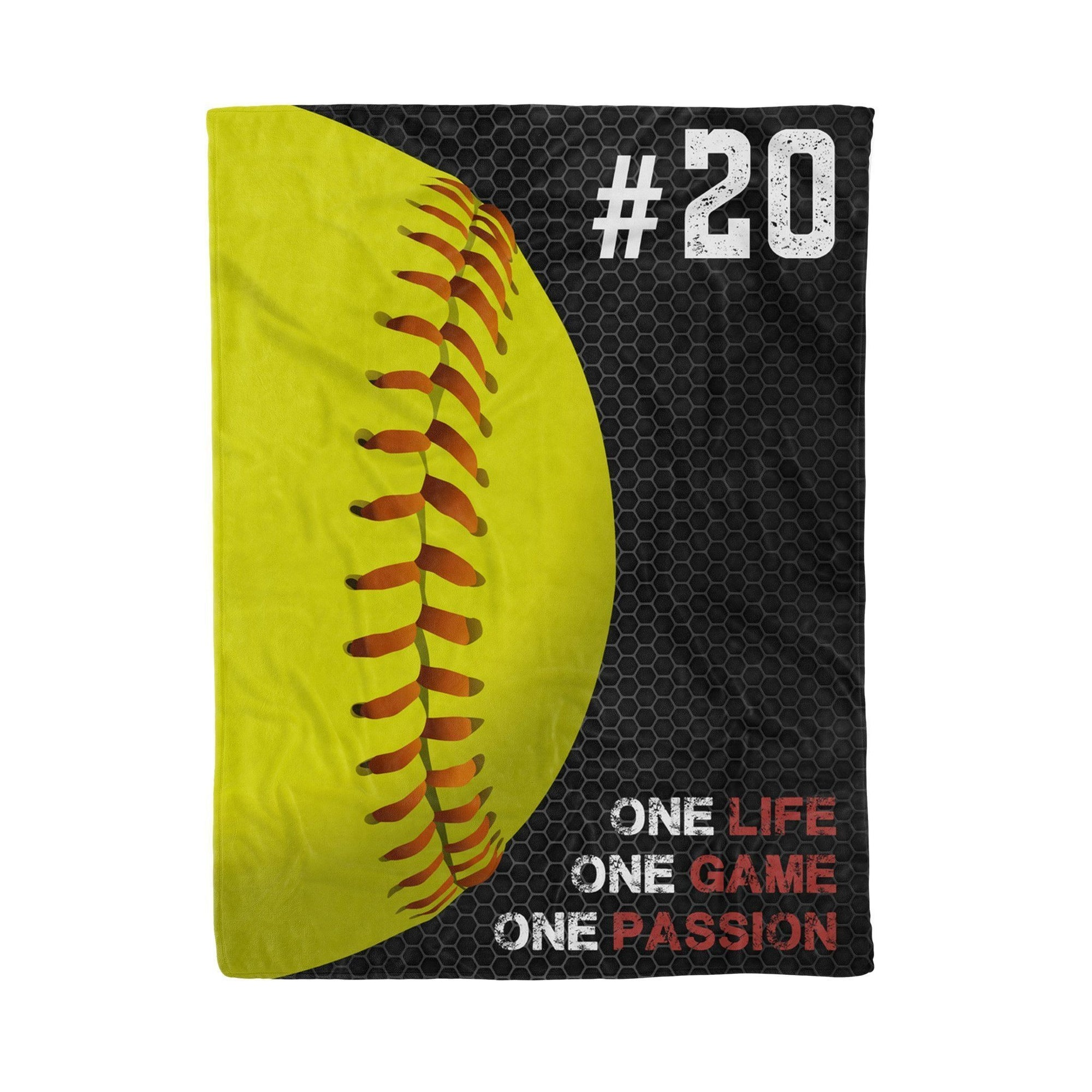 Softball One Passion - Custom Blanket