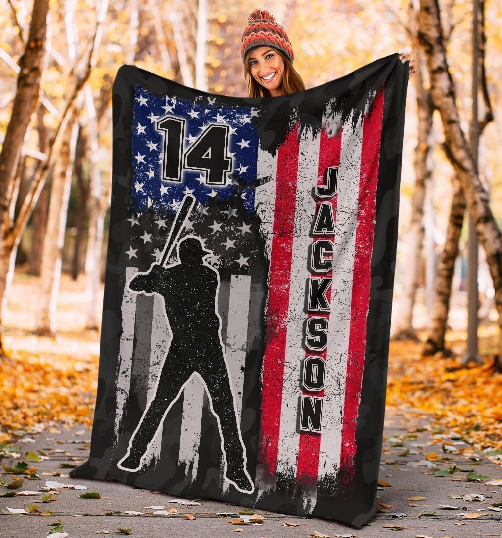 Custom Blanket Baseball Vintage Flag