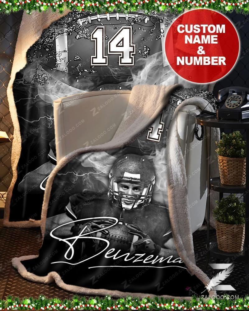Custom Blanket - Football - Black & White2