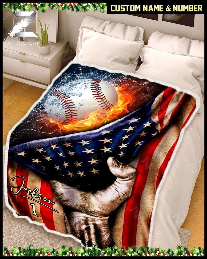 Custom Blanket - Baseball - Flag