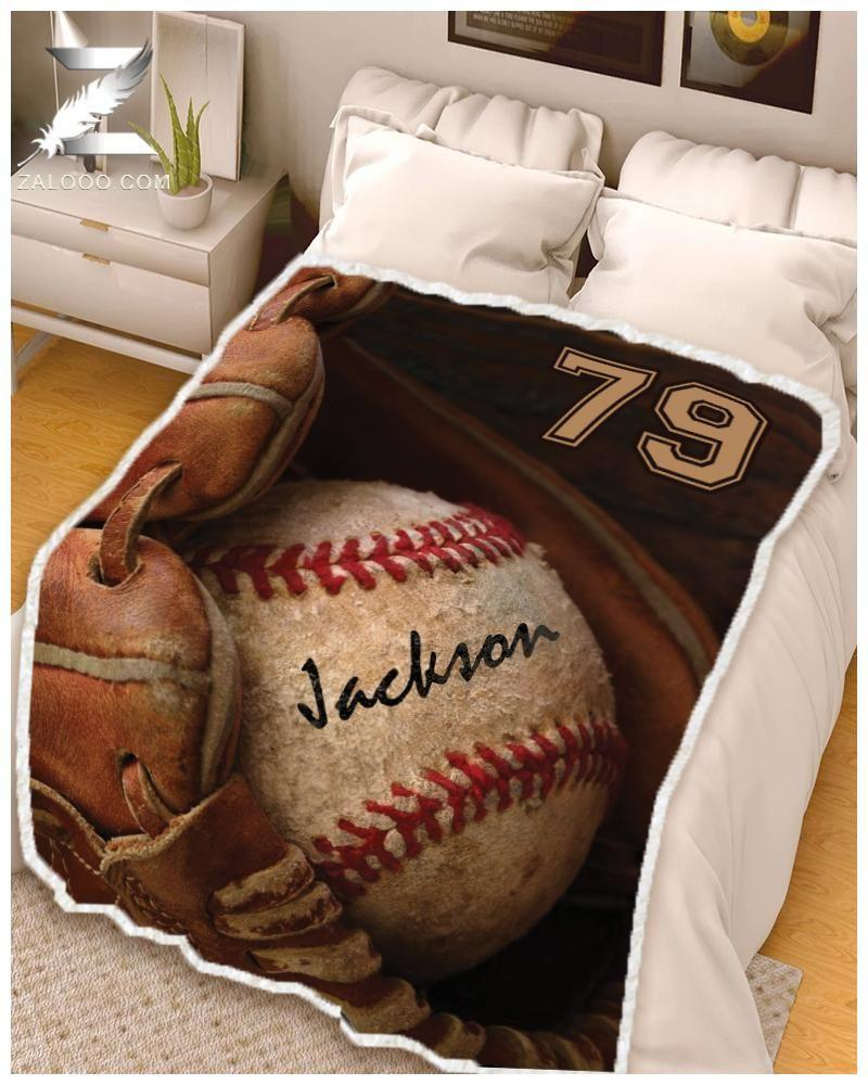 Custom Blanket - Baseball - Glover