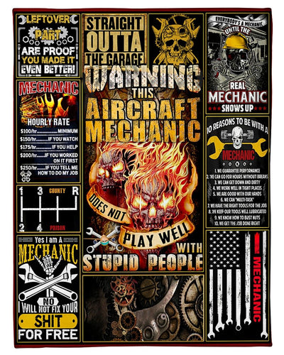 Warning This Aircraft Mechanic Skull GS-NT2002TS