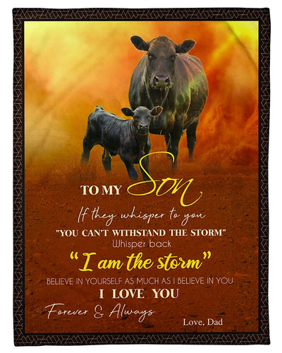 Black Angus To My Son Love Dad GS-CL-DT1810