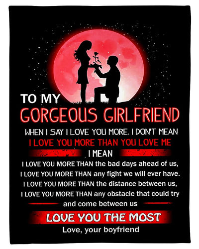 To My Gorgeous Girlfriend Love You GS-CL-LD2111