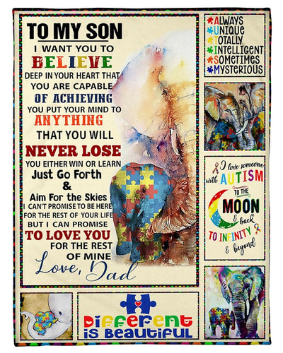 To My Son Autism Awareness Elephant GS-NT1302TT