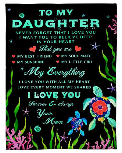 To My Daughter Turtle CL250997MDF