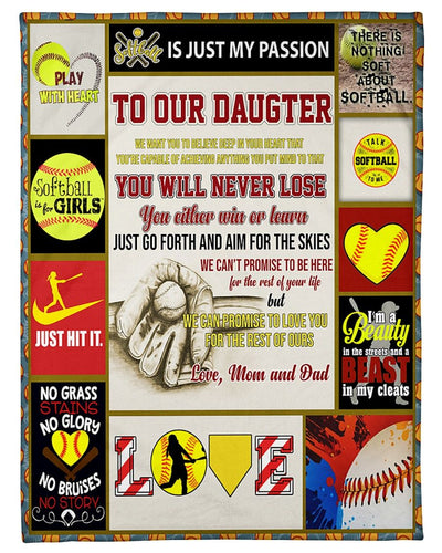Softball Daughter Love Mom And Dad GS-CL-DT2910
