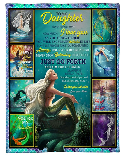 To My Daughter Love Mom Mermaid GS-CL-LD2810