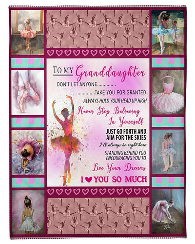 To My Granddaughter Ballet CL2709496MDF