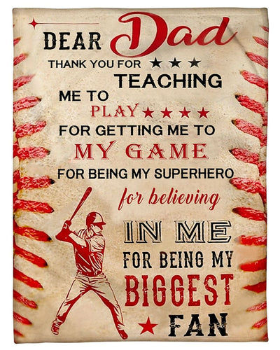Baseball Dear Dad Thank You GS-CL-DT1810