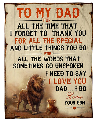 Lion To My Dad I Love You Son GS-CL-DT1810