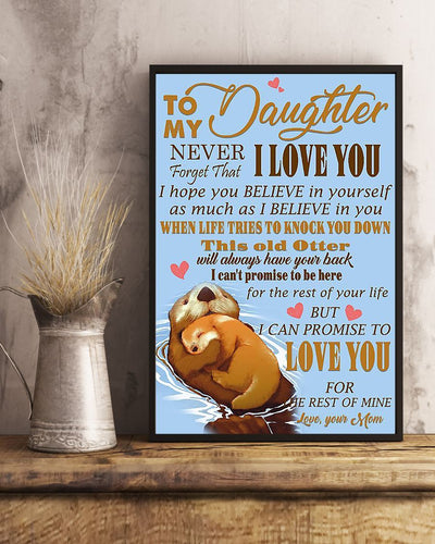 Otter To My Daughter Never Forget GS-NT2502DZ
