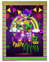 Flossing Unicorn Mask Mardi Gras GS-NT0702TL