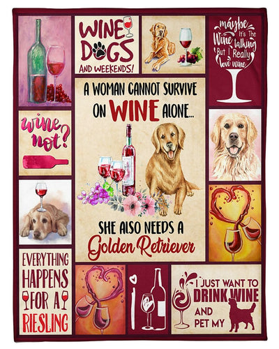 Wine And Golden Retriever GS-NT2702TS