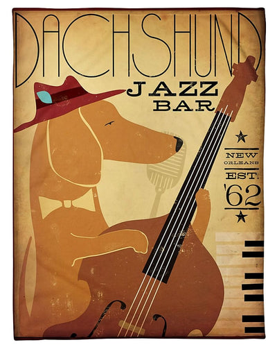 Dachshund Jazz Bar New Orleans GS-NT1002TP