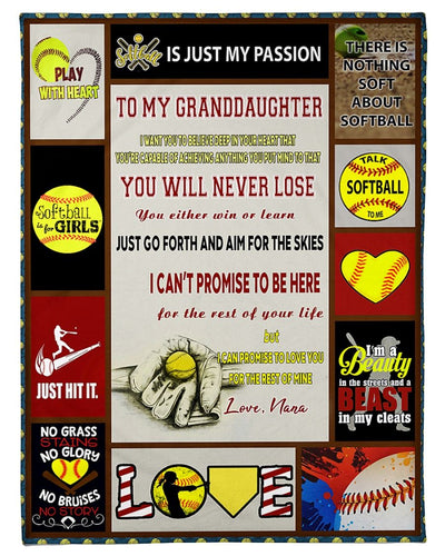 Softball Granddaughter Love Nana GS-CL-LD2810