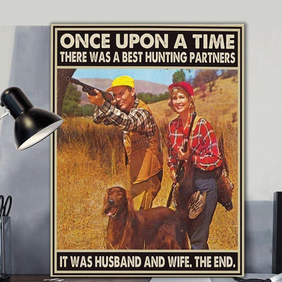 Wall Art - Hunting Husband And Wife Wall Art - Print Wall Art