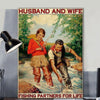 Wall Art - Husband And Wife Fishing Wall Art - Print Wall Art