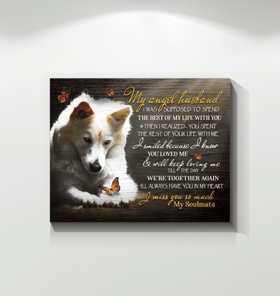 Wall Art - Wall Art Wolf My Angel Husband - Print Wall Art