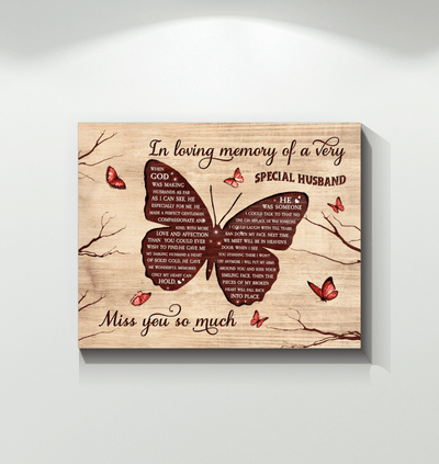Wall Art - Hay Wall Art Butterfly Special Husband - Print Wall Art