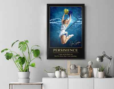 Personalized 'Electric Moment' Cheer Wall Art