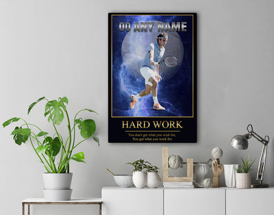 Personalized 'Electric Moment' Tennis Wall Art