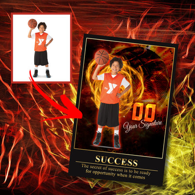 Personalized 'Electric Moment' Basketball Wall Art