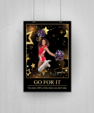 Personalized 'Super Star' Cheer Wall Art