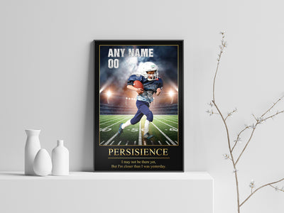 Personalized 'Bright Lights' Football Wall Art