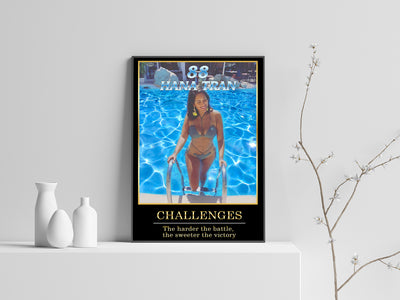 Personalized 'Poolside' Swimming Wall Art