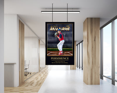 Personalized 'King of the Hill' Baseball Wall Art