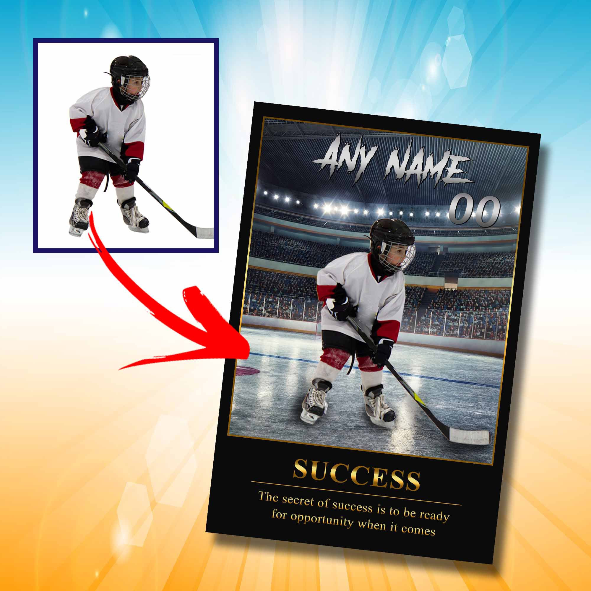 Personalized 'Showtime' Hockey Wall Art