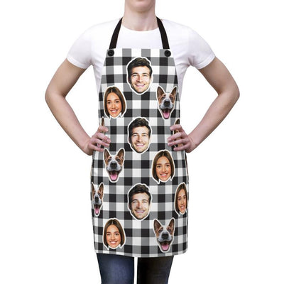 Custom Fruits Apron, Kitchen Photo Apron, Personalized Apron, Funny Crazy Face Kitchen Apron, Fruit Apron, Custom Picture Chef Gift