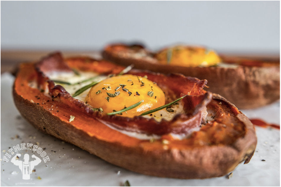 Bacon and Egg Stuffed Sweet Potato: A Twist on a Traditional Combo