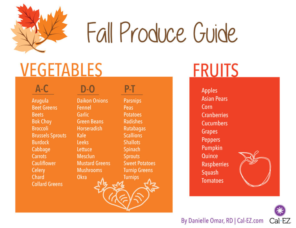 The Ultimate Fall Produce Guide + 8 Must Try Fall Recipes