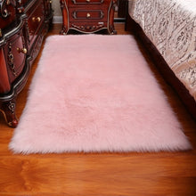 Load image into Gallery viewer, Long Hair Solid Carpet  Living Room Deco Artificial Skin Rectangle Fluffy Mat Pad Anti-Slip Chair Sofa Cover Plain Area Rugs