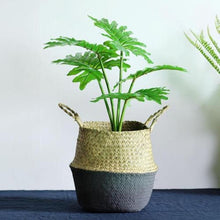 Load image into Gallery viewer, Foldable Storage Basket Creative Natural Seagrass Rattan Straw