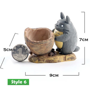 Totoro Mini resin plant flower pot decoration - 17 designs to choose from