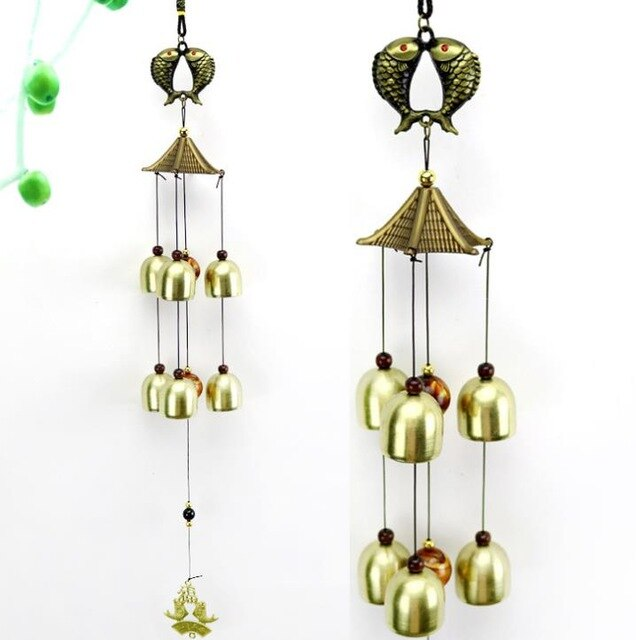 Wind Chimes Yard Antique Amazing Garden copper Bells Windchimes hanging decorations