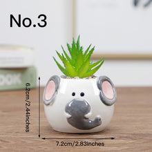 Load image into Gallery viewer, Cute Animal Flower Plant Pot Ceramic Vase