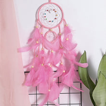 Load image into Gallery viewer, Wall Dreamcatcher  Led Handmade Feather Dream Catcher Braided Wind Chimes Art For room decoration Hanging home decor Decoration